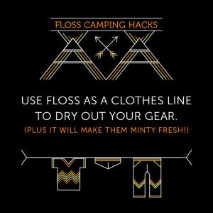 15053 Social Post - Floss Camping Hacks1