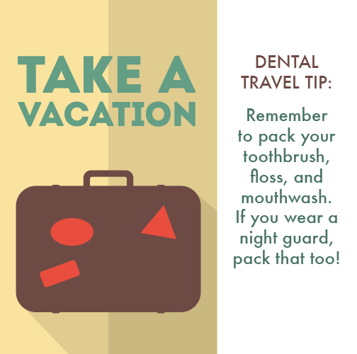 Travel tip from Bourbonnais Dentist Dr. Fogel