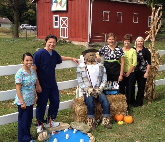 Bourbonnais dentist and his team visit Scarecrow Hollow at Perry Farm Park