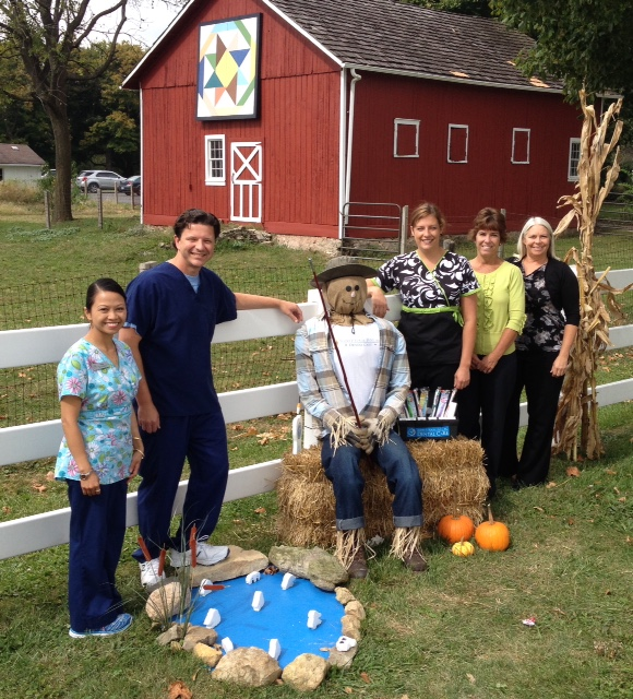 Bourbonnais dentist and his team visit Scarecrow Hollow at Perry Farm Park